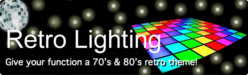 Small and Big Retro shows available. With classic iconic lighting effects!